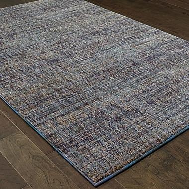 Winston Porter Bobby Purple/Gray Area Rug; 6'7'' x 9'6''