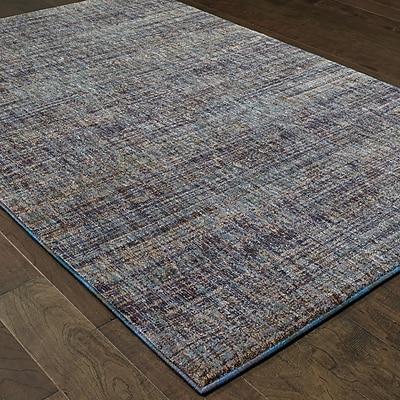 Winston Porter Bobby Purple/Gray Area Rug; 1'10'' x 3'2''
