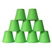 Symple Stuff 5'' Cotton Hardback Empire Clip-on Candelabra Shade (Set of 9); Bright Green