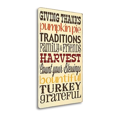 Astoria Grand 'Giving Thanks' Framed Textual Art Print on Wrapped Canvas; 34'' H x 21'' W'