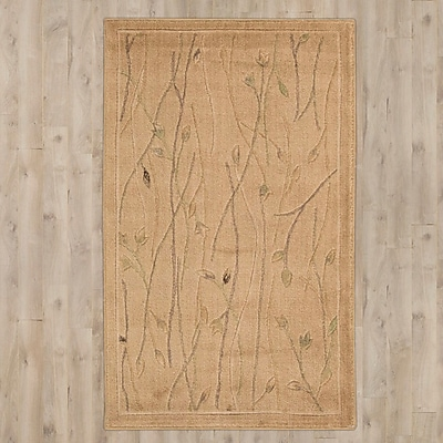 Charlton Home Groveland Hand-Knotted Beige Area Rug; 9'6'' x 13'6''