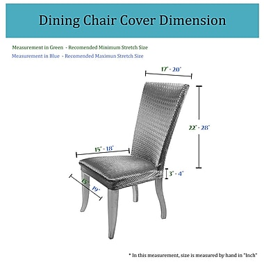 Charlton Home Basket Weave Dining Chair Cover; Gray