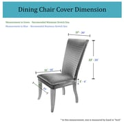 Charlton Home Dining Chair Cover (Set of 2); Gray