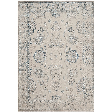 Charlton Home Nielsen Gray / Blue Area Rug; 10' x 14'