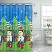 The Holiday Aisle Tree and Snowman Shower Curtain