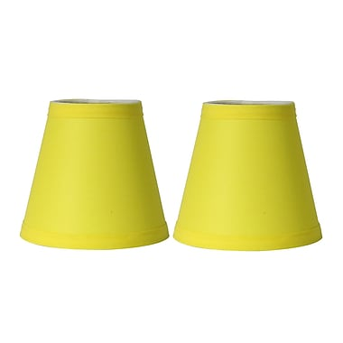 Symple Stuff 5'' Cotton Empire Candelabra Shade (Set of 2); Yellow