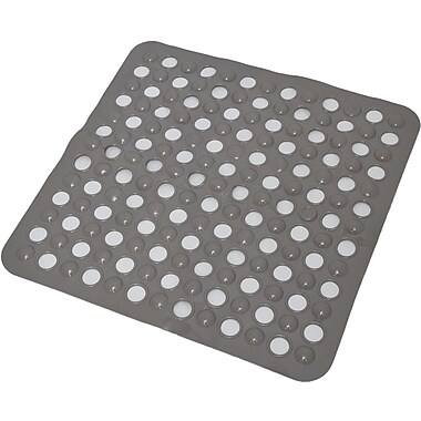 Evideco Non Skid Suction Shower Mat; Taupe