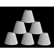 Winston Porter Pleat 6'' Silk Empire Lamp Shade (Set of 6); White