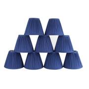 Winston Porter Pleat 6'' Cotton Empire Candelabra Shade (Set of 9); Navy Blue