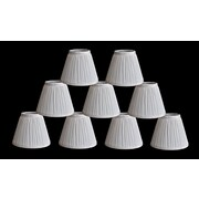 Winston Porter Pleat 6'' Silk Empire Lamp Shade (Set of 9); White