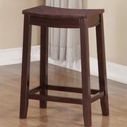 Winston Porter Brittani Wooden Saddle 24'' Bar Stool