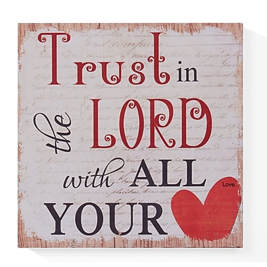 Winston Porter 'Trust in the Lord' Textual Art on Wood