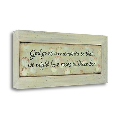 August Grove 'God Gives Us Memories' by Karen Tribbet Framed Acrylic Painting Print on Canvas