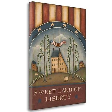 August Grove 'Sweet Land of Liberty' Graphic Art Print on Wrapped Canvas; 32'' H x 24'' W