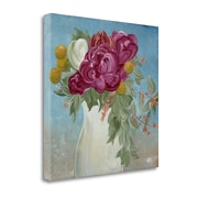 August Grove 'Pitcher of Flowers' by Amber Berninger Framed Acrylic Painting Print on Wrapped Canvas