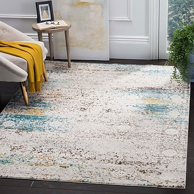 Bungalow Rose Andy Blue Area Rug; 4' x 6'