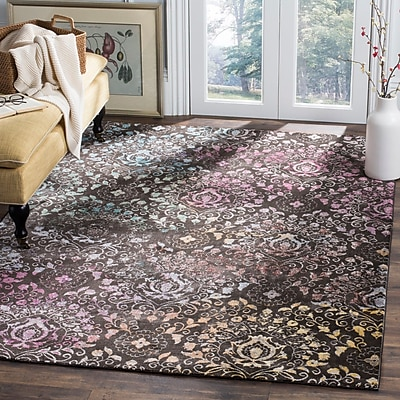 Bungalow Rose Andy Brown Area Rug; 5'1'' x 7'6''