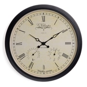 Darby Home Co Weather Station 9.84'' Wall Clock