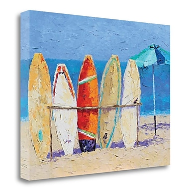 Highland Dunes 'Resting on the Beach' Print on Wrapped Canvas; 28'' H x 37'' W