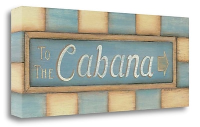 Highland Dunes 'To the Cabana' Textual Art on Wrapped Canvas; 16'' H x 40'' W