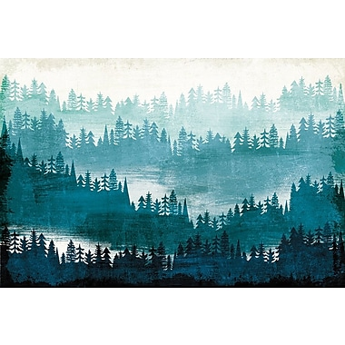 Loon Peak 'Mountainscape Blue' Print on Wrapped Canvas