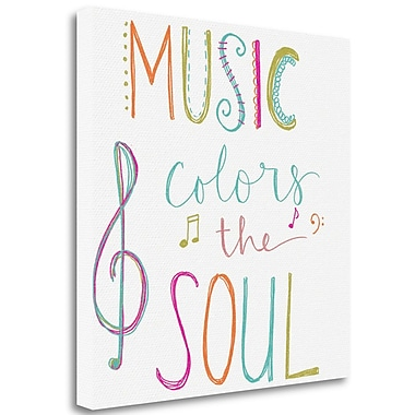 Latitude Run 'Music Colors the Soul' Print on Wrapped Canvas; 30'' H x 30'' W