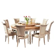 One Allium Way Drapeau Solid Wood Round Dining Table