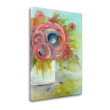 Latitude Run 'Pink Peonies' Acrylic Painting Print on Wrapped Canvas; 36'' H x 28'' W
