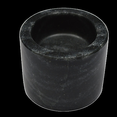 Mint Pantry Marble Cylinder Votive Holder; Black