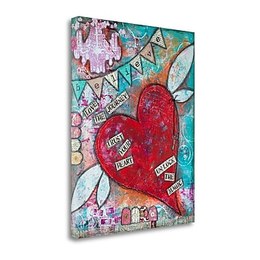 Red Barrel Studio 'Believe' Acrylic Painting Print on Wrapped Canvas; 27'' H x 21'' W