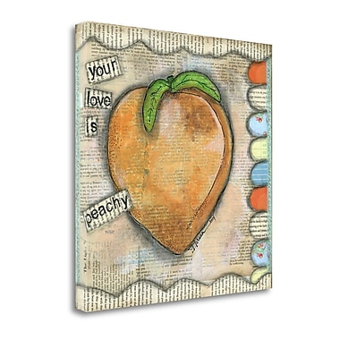 Red Barrel Studio 'Your Love is Peachy' Acrylic Painting Print on Wrapped Canvas; 20'' H x 20'' W