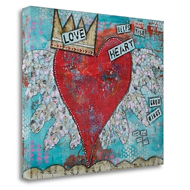 Red Barrel Studio 'Love Heart' Acrylic Painting Print on Wrapped Canvas; 21'' H x 26'' W