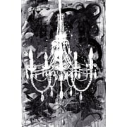 Rosdorf Park 'Chandelier Black and White' Print on Wrapped Canvas