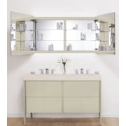 Ronbow Signature Series Brit LED Mirror 53'' W x 28'' H Wall Mounted Cabinet