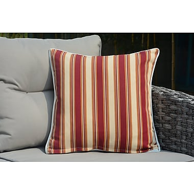 Red Barrel Studio Beckett Square Striped Outdoor Throw Pillow