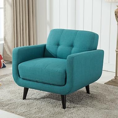 Roundhill Furniture Modibella Armchair; Blue