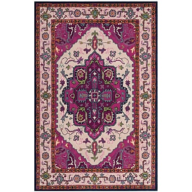 Bungalow Rose Blokzijl Hand-Tufted Wool Purple Area Rug; 2' x 3'