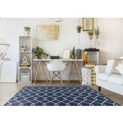 Breakwater Bay Cambridge Navy Layla Area Rug; 20'' x 31''