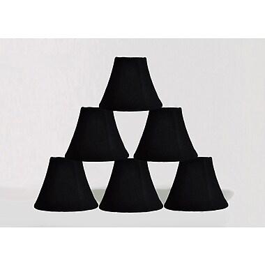 Bloomsbury Market 6'' Burlap Bell Candelabra Shade (Set of 6); Black