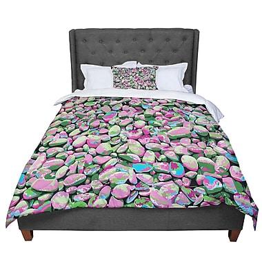 East Urban Home Empire Ruhl Rocks Spring Abstract Comforter; Queen