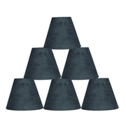 Ebern Designs 6 Piece 6'' Suede Empire Lamp Shade (Set of 6); Gray