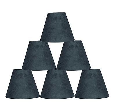 Ebern Designs 6 Piece 6'' Suede Empire Lamp Shade (Set of 6); Gray
