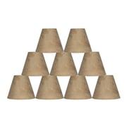 Ebern Designs 6 Piece 6'' Suede Empire Lamp Shade (Set of 6); Tan