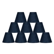 Ebern Designs 9 Piece 6'' Suede Empire Lamp Shade (Set of 9); Navy Blue