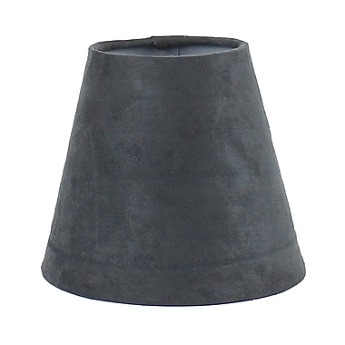 Ebern Designs 5'' Suede Empire Candelabra Shade; Gray