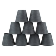 Ebern Designs 5'' Suede Empire Candelabra Shade (Set of 9); Gray