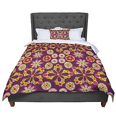 East Urban Home Jane Smith Indian Jewelry Floral Comforter; Twin