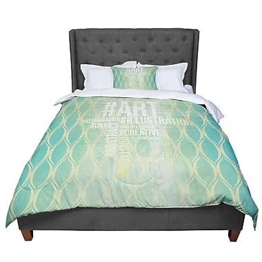 East Urban Home Hashtag Comforter; Twin