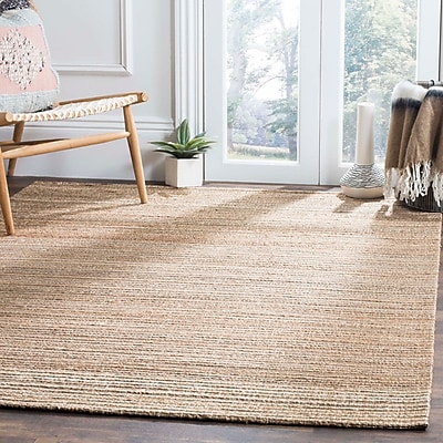 Highland Dunes Abia Hand-Woven Brown Area Rug; Square 6'