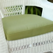 Highland Dunes Lounge Outdoor Chair Cushion; Green